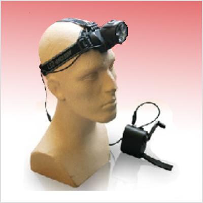 Lampe professionnelle frontale dynamo pour casque
