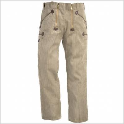 Pantalon de travail beige largeot pour couvreurs, charpentiers