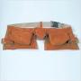 Sacoche professionnelle cro�te de cuir 11 compartiments - ceintu