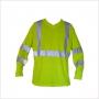 T-Shirt de travail haute visibilité manches longues anti-transpi